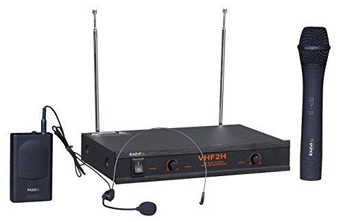 Ibiza VHF2H Microphone sans fil Noir
