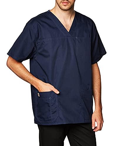 Carhartt Men's Ripstop Multi Pocket Scrub Top, Navy, Medium