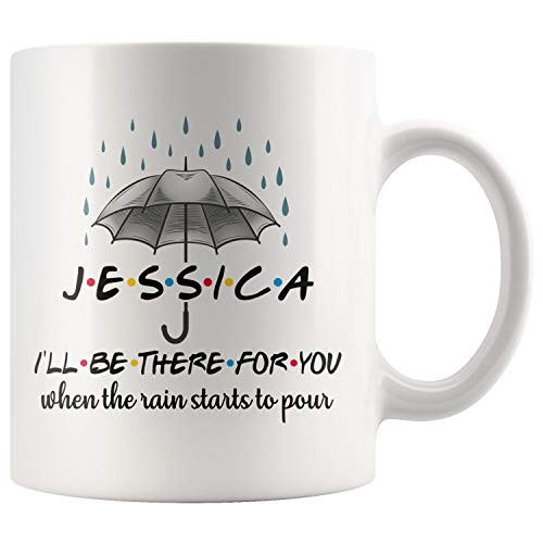 Personalized There For You Mug, Friends, Bestie Birthday, For & From Bestie, Friends Obsession, BFF Friends, Husband To Wife (11 oz)