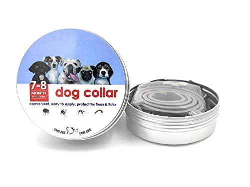 Nuevo Collar Antiparásitos Perros, Collar Pulgas, Garrapatas y Mosquitos. Tamaño Ajustable Mascota Pequeña Mediana Grandes Collares Leishmania