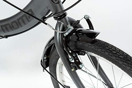 MOMA BIKES Erwachsene BIFCL2GUN Falträder First Class 20″, Aluminium, Shimano 6v, Sattelkomfort, grau, Unic Size - 7