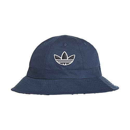 adidas Sombrero de pescador reversible, para mujer, color azul marino y blanco