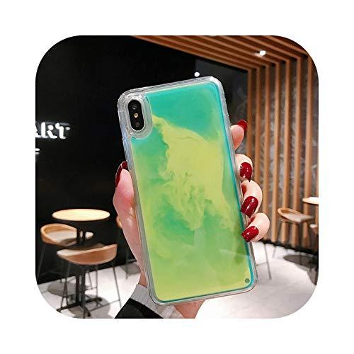 Carcasa de arena líquida luminosa para Samsung S10 S9 Plus Note 8 9 A7 A8 A6 J4 J6 J8 M10 A10 A20 A30 A40 A50 A70 J3 J5 J2 Prime-b-J6 Plus (2018)
