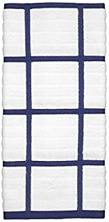 All-Clad Textiles 100-Percent Cotton Checked Kitchen Towel, Cobalt by All Clad Textiles