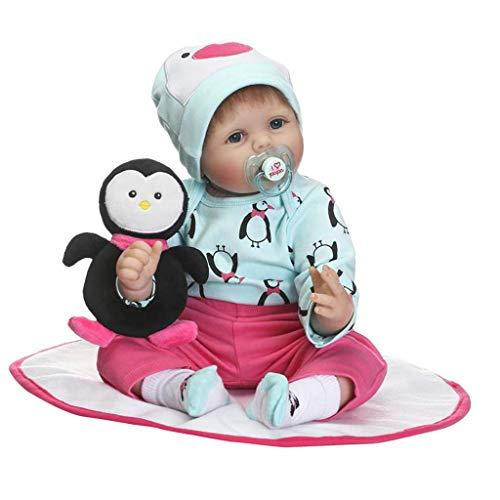 Tubayia 55cm Lebensechte Babypuppe mit Funktion Weichkörper Neugeborenen Puppe für Kinder Spielzeug Geschenk