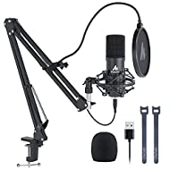 USB Microphone 192kHz/24Bit Plug&Play MAONO AU-A04,Computer Cardioid Podcast Condenser Mic with Professional Sound Chipset for Laptop, PC, Skype, YouTube, ASMR, Gaming, Recording
