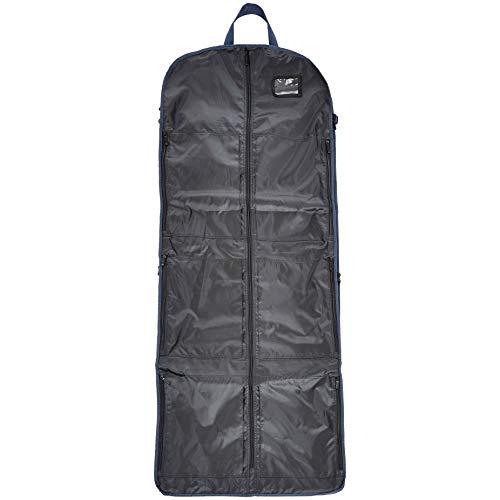 Premium Tri-Fold Travel Hanging Garment Bag - 23.5 Inch, Blue