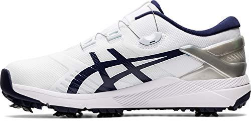 ASICS Men's Gel-Course Duo Boa Golf Shoes, 7.5, White/Peacoat