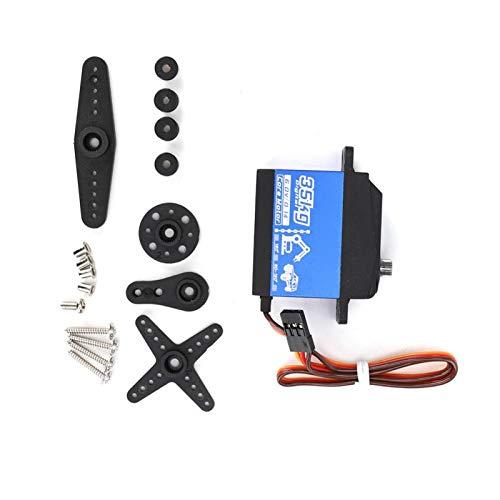 Engranaje de dirección de automóvil RC de Alta precisión con Dientes de Sierra fácil de escanear, para vehículos de Control Remoto 1:10 y 1: 8(Black)