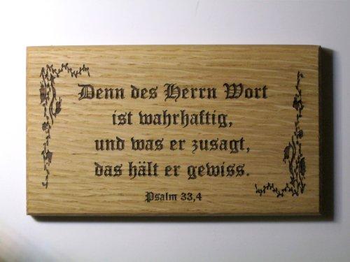Geschenk Sprüche Kommunion Konfirmation -Denn des Herrn Wort ist wahrhaftig- Altdeutsch