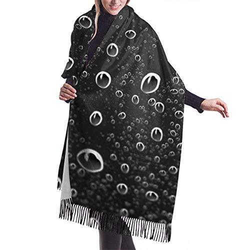 Sciarpa invernale in cashmere con scialle casual da donna per la pioggia sul finestrino della macchina