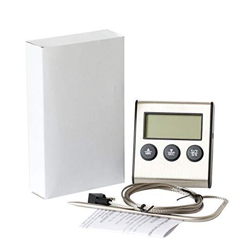 Anself Termometro de cozinha com sonda Timer sincronismo e alarme função 0-250° C/32-482° F
