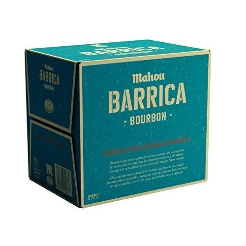 Mahou Barrica Cerveza Envejecida Edición Especial Bourbon 6.9% Volumen de Alcohol - Pack de 12 x 33 cl