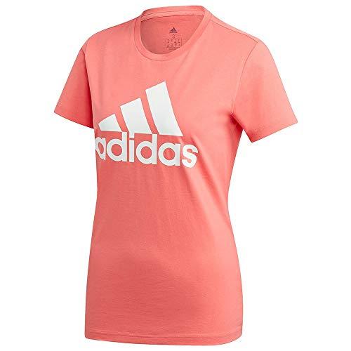 adidas W BOS CO tee Camiseta, Mujer, serode, L