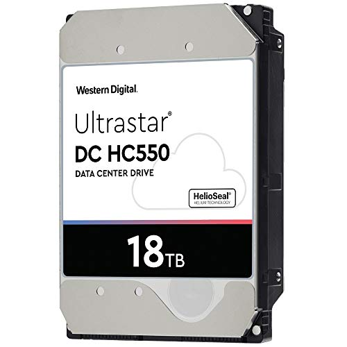 WD Ultrastar DC HC550 18 TB Hard Drive 3.5 Internal 512MB SATA 7200rpm 512E SE NP3 DC HC550 0F38459