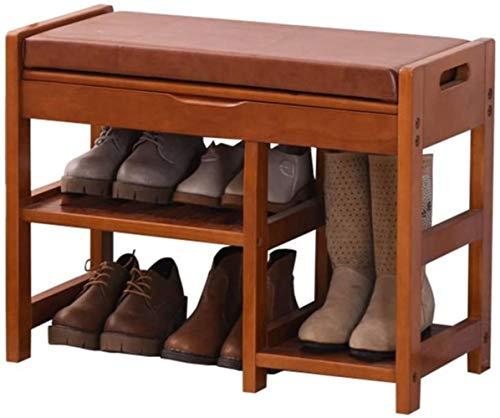 LIUYULONG Caja de Zapatos Banco de Zapatos Zapatos Europeos de Almacenamiento de Prueba de Madera Zapatos de heces Moderna Minimalista Zapatos heces Zapatero Escaparate