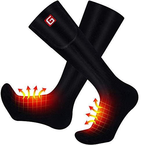 MMlove Battery Heated Socks for Men,Heated Socks Women Rechargeable Washable Heated Socks Battery Powered Cold Weather Heat Socks for Hiking Skiing Hunting, 3 Heating Setting Heating Socks