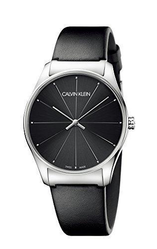 Calvin Klein Damen Analog Quarz Uhr mit Leder Armband K4D211CY