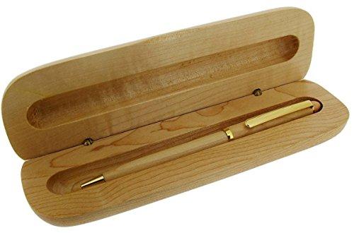 Hellbraun / Gold Slim Ballpoint Kugelschreiber und Box von Gift Time Products