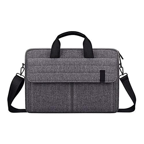 BOINN Laptop Protective Cover 15.6-Inch Men's and Women's Shoulder Bag, Bottom Depth Adjustable,Gray