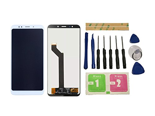 Flügel para Xiaomi Redmi 5 Plus Pantalla LCD pantalla Blanco Táctil digitalizador Asamblea Pantalla ( sin marco ) de Recambio & Herramientas