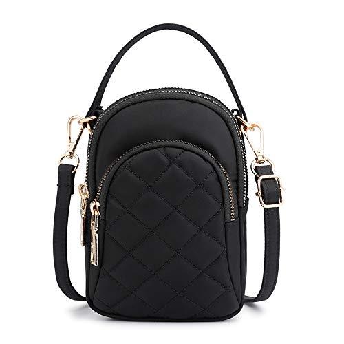 Eenvoudig en praktisch, casual schoudertas van nylon Oxford-stof, schoudertas, waterdichte tas, Blanco Y Gris (zwart) - 9685765503594