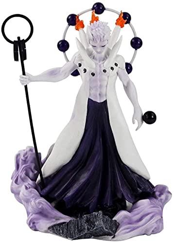 Liiokiy 26.5cm Anime Figura Naruto Shippuden Madara Uchiha Obito Figura de acción Modelo Hecho a Mano Modelo de Juguetes Animación Personaje Modelo Arte Estatuas Juegos Anime Decoración Arte Regalo