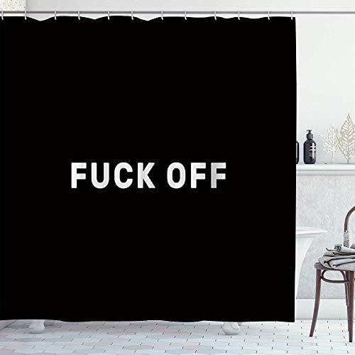 LOSNINA Duschvorhang,Schwarzer Hintergrund Ficken ab,Hochwertige Qualität,180x180cm Wasserdicht mit Haken für Badezimmer