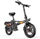 N&I Folding Electric Bike - Bicicleta eléctrica de 14 pulgadas, ligera, de aleación, con doble disco y silencioso, portátil Easy To Store en Caravan Motor Home Boat Lithium Battery