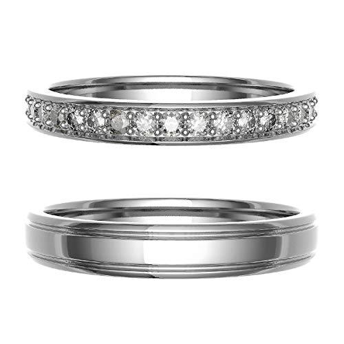 [ココカル]cococaru ペアリング 結婚指輪 プラチナ Pt900 2本セット マリッジリング 日本製 (レディースサイズ8号 メンズサイズ12号)