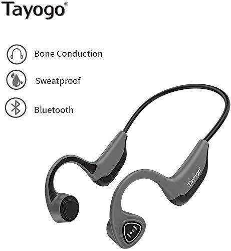 Tayogo Open-Ear Wireless Bone Conduction Bluetooth Headphones Perfect for Sport Fitness - Grey