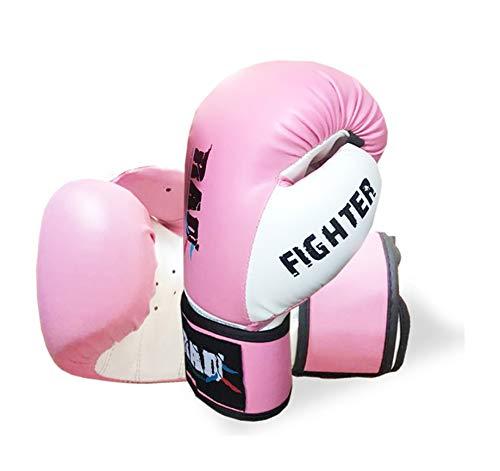 RAD - Guantes de boxeo para niños y adolescentes, de piel sintética, para entrenamiento de Muay Thai, boxeo, kickboxing, lucha, 4 oz, 6 oz, 8 oz (rosa, 4 oz)
