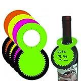 Fluorescent Bottleneck Tags, Wine & Liquor Neon Retail Sale Signs, 1.5' Diameter Opening - 100 Pack