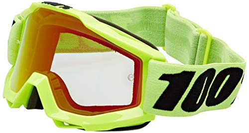 100% 50210-004-02 Accuri Brille Fluo Gelb - Spiegel Linse, Rot, Größe One Size