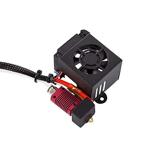 Huachaoxiang Accesorios De La Impresora 3D, Extrusora Kit Hotend Boquillas De Montaje Completamente Cubierta De Ventilador Completamente Extrusora 3D Impresora Accesorios Fan,Negro