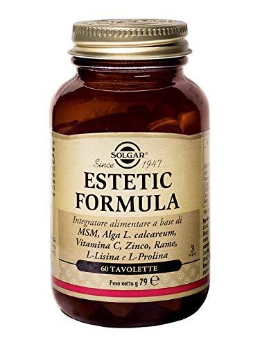 Solgar Fórmula Estética, suplemento alimenticio, paquete de 60 tabletas