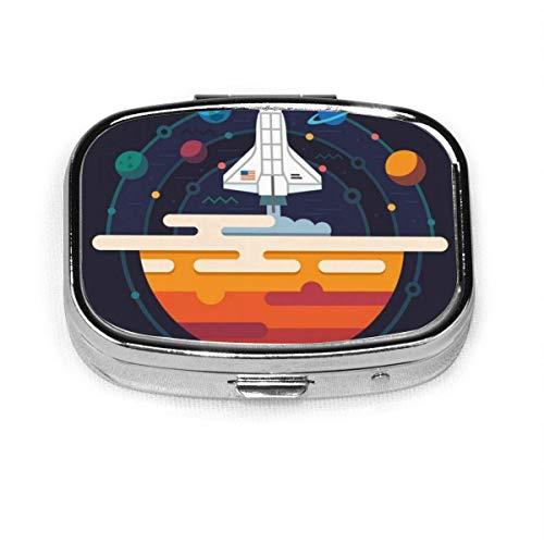 Torii Japan Custom Fashion Silber Quadrat Pille Box Medizin Tablettenhalter Brieftasche Organizer Fall für Tasche oder Geldbörse Vitamin Organizer Halter Dekorative Box
