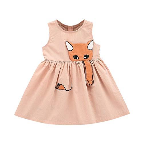 AIKSSOO Zomer Baby Meisjes Cartoon Muse Jurk Mouwloos Strand Zonnejurk Kleding Outfits