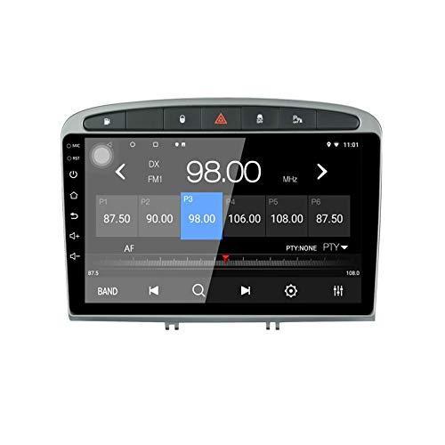 JIBO para Peugeot 308/408 Android 10.0 9 Pulgadas Auto Estéreo Radio Navegacion GPS Cabeza Unidad Alto Resolución Tocar Pantalla Multimedia Jugador Teléfono Control WiFi SWC Bluetooth Video Receptor