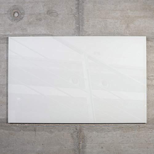Glas Magnettafel MAX inkl. 5 Magnete, Magnetspiegel/Glasmagnettafel/Magnetboard/Magnetwand (weiß, 50 x 30 cm)