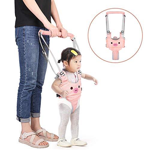 Lauflernhilfe Gehhilfe für Baby Stehen Gehen Lernen Helfer Walker Sicherheitsleinen für Kinder 6-27 Monthe, 4 in 1 Funktionale (Rosa)【Neue Version-Bär】