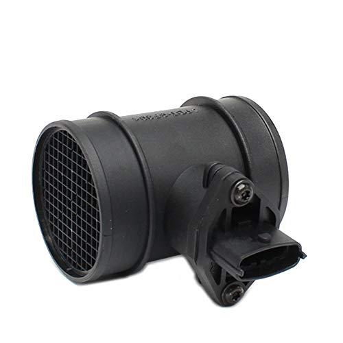 Sensor Medidor de flujo de aire MAF for Opel Astra G COMBO CORSA C OMEGA B VECTRA B ZAFIRA Vauxhall 0281002180 0281002443 90530767 material plástico es resistente y duradero Auto Parts Negro Sensor de