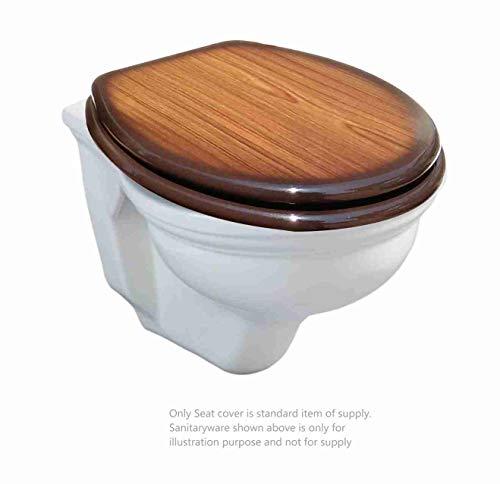 Adshank Teakwood Effect Commode/ Toilet Seat Cover