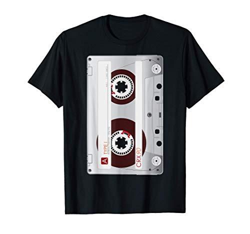 1980s Cinta 1990s Disfraz Retro Cassette Regalo Camiseta