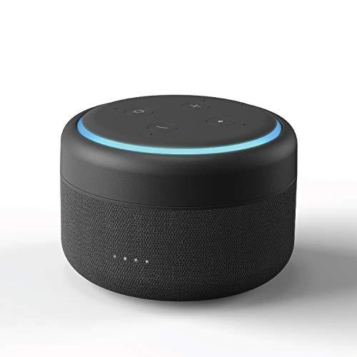 Bateria Echo Dot 3, Base de Batería Portátil para Amazon Echo Dot 3ª Generación Altavoz Inteligente, hasta 12 Horas de Reproducción (Echo Dot no Incluido) Versión Actualizada (Negro)