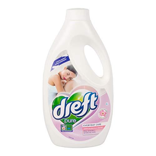 Dreft Pure Waschmittel flüssigkeitsempfindliche Haut 30 Messlöffel - Flasche mit 1,65 Litern