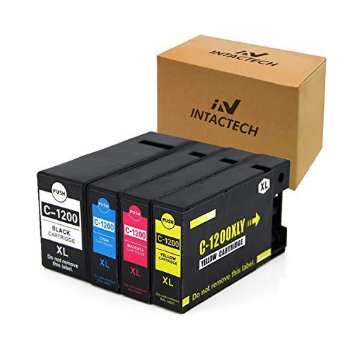 Replacement for Canon MB2320 MB2720 PGI-1200XL PGI-1200 XL Ink Cartridges Pigment for Canon Maxify MB2720 MB2320 MB2020 MB2120 Printer Cannon Printer 1200 ink (1 Black,1 Cyan,1 Magenta,1Yellow -1 set)