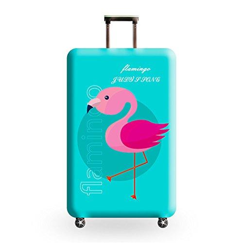 Cover Proteggi Valigia Elasticizzata in forma Flamingo 18-32 pollici Suitcase Cover Cover Proteggi bagagli protettore dei bagagli valigia (fenicottero 13, S)
