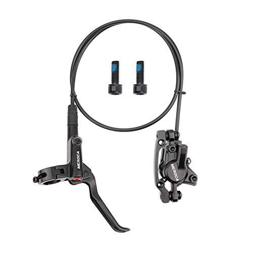WANGQI Juego de frenos de disco para bicicleta, maneta de freno de disco hidráulico MTB, juego de frenos de disco hidráulicos con rotores + tornillos (parte trasera izquierda + derecha delantera).