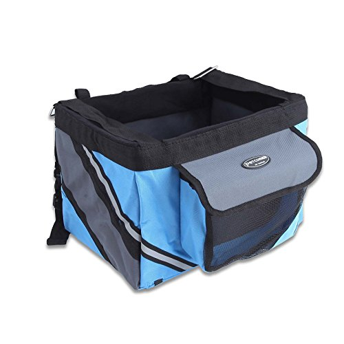 PETCOMMER Petcomer Pet Bicycle Basket Bike Case Seat Dog Puppy Cat Outdoor...
